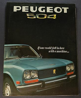 1970 Peugeot 504 Sales Brochure Folder Excellent Original 70