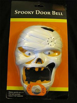 New HALLOWEEN Spooky Animated Mummy Door Bell w/ Lights & Sound ~ Free Shipping