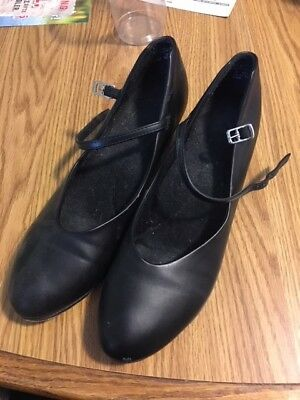 Black Genuine Leather Character Shoes, Size 8.5, Lightly Used