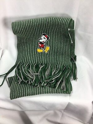 Disney Store Mickey Mouse Santa Scarf 54 Inches Long New Without Tags