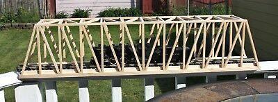 "S Gauge handmade hardwood thru truss bridge 36"" long for American Flyer etc.."