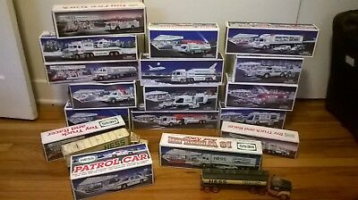 Large Lot of 19 Hess Trucks 1984, 1987-2001, 2004-2005! In Box Vintage