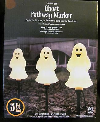 3 Piece Set Ghost Pathway Marker Electric LIghts ~ New in Pkg