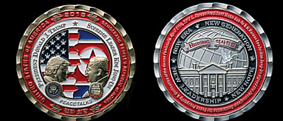PRESALE Trump + Kim Jong Un Korea Peace Talks WHITE HOUSE COIN SALE
