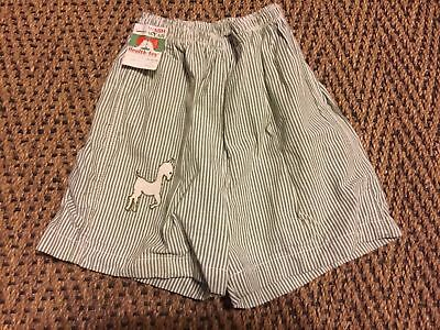 Vintage Boys Helth Tex Shorts Blue & White New With Tags size 4 Horse Cotton