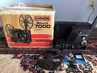 Chinon 8000 8Mm Super 8Mm Sound Movie Projector Serviced In Box * Superb!