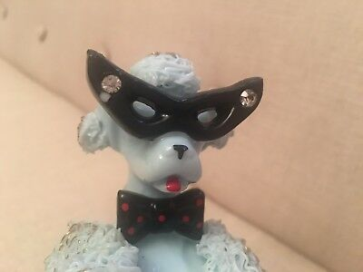 VINTAGE 1950s-spaghetti poodle-awesome cat glasses/bow tie and gold accents.