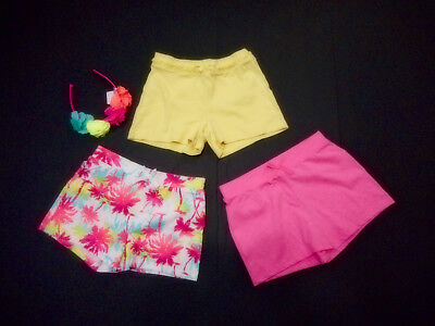 Girls Size 7/8 And Size 7 Shorts Vguc And Nwt Matching Headband Nwt