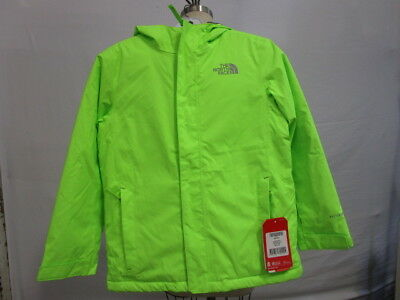 NWT The North Face Safety Green Hooded Long Sleeve Zip Up Snow Jacket Youth M