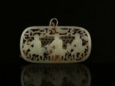 China Exquisite Hand-carved people carving Hetian jade Pendant