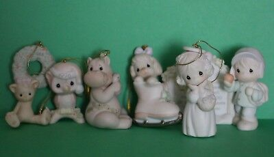 Precious Moments Sugar Town Elementary School Pageant Sign & lot of 5 ornaments
