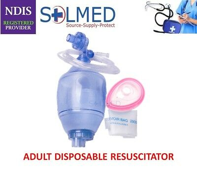 Bvm Adult Resuscitator Bag Valve Mask With Pop Off Valve