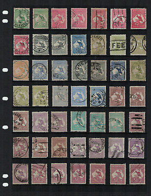 Selection Of 49 Mixed Watermarks - Kangaroos - Used Condition