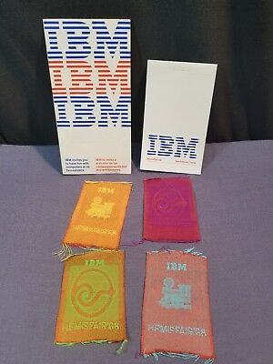 LOT 1968 IBM Worlds Fair Hemisfair Exhibit 4 Textile Designs Brochure/Map