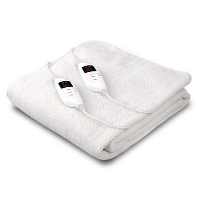 King Size 9 Setting Fully Fitted Electric Blanket Warm Heated Washable Warm Bed
