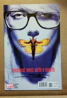Deadpool Merc with a Mouth #13 Signed by Suydam Silence of the Lambs no COA 9.4