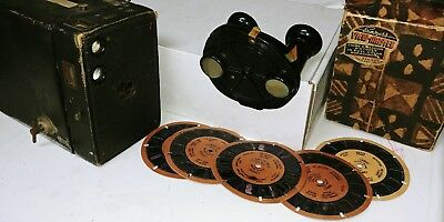 Vintage lot Sawyers Viewmaster round Model B. Eastman Kodak Brownie No 2A camera