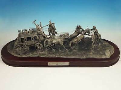 Franklin Mint Holdup Limited Edition Pewter Sculpture Western Heritage Museum