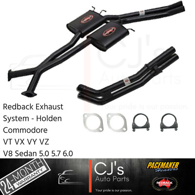 "Holden VT VX VY VZ V8 5.0 5.7 6.0 SS HSV Sedan Twin 2.5"" Redback Exhaust Bolt On"