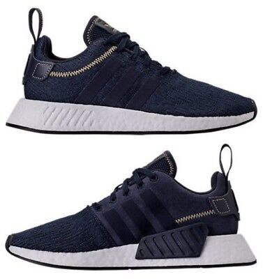a00d415db ADIDAS NMD R2 RUNNER CASUAL MEN s NAVY - WHITE AUTHENTIC NEW IN BOX SELECT  SIZE