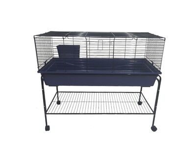 Indoor Rabbit Guinea pig small animals cage with stand and wheels