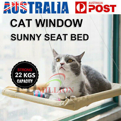 Comfortable Cat Window Bed Seat Pets Mounted Wall Home Hammock Cover Washable AU