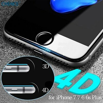4D Curved Full Cover Tempered Glass Screen Protector For Apple Iphone 8 7 6 Plus