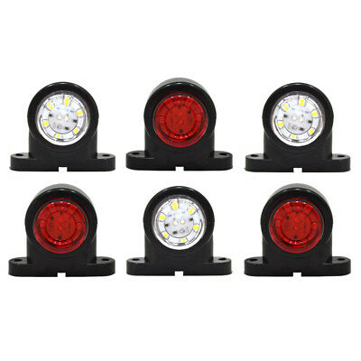 6x 12V 24V Bianco Rosso Piccolo Luci 18 LED Ingombro Laterale Furgone Camion A27