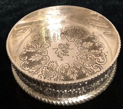 Silver Coaster Product Of Japan With Two Line Stamp