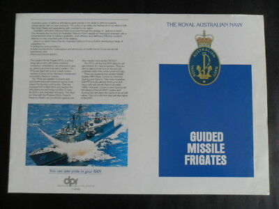 """Royal Australian Navy WELCOME ABOARD's  FFG's GUIDED MISSILE FRIGATES 1980""""s"""