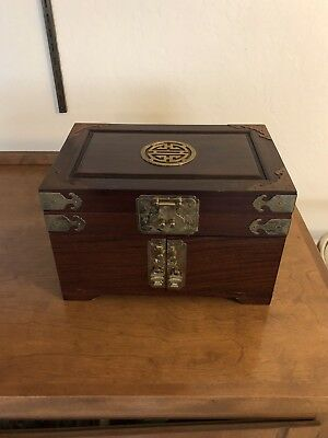 Vintage Japanese Wood Tansu Box