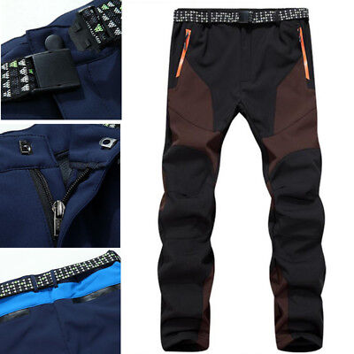Men Women Water-proof Breathable Softshell Pants Camping Hiking Skiing Trousers&