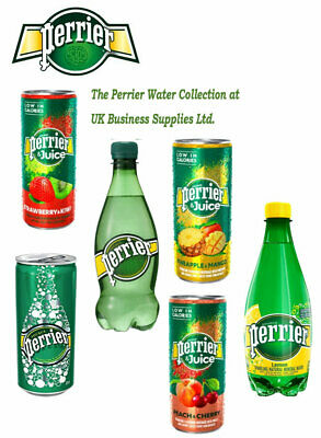 Perrier Sparkling Water Lemon Pineapple Strawberry Peach all Sizes