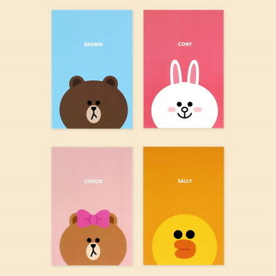 Line Friends Kakao Lined Notebook Memo Study Free Note Paper Character Cony App