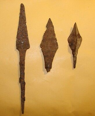 Vikings arrowheads 7 - 2 nd century BC. IRON. RARE. ORIGINAL