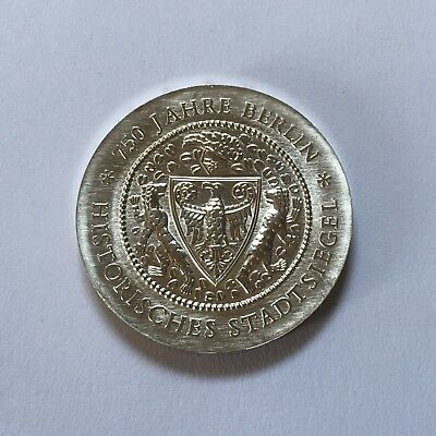 East Germany DDR 1987 City Seal 20 Mark Silver Coin UNC