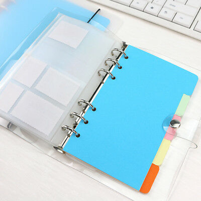 5pcs A5 A6 Inner Page Organizer Notebook Index Paper 6 Holes Divider Pages