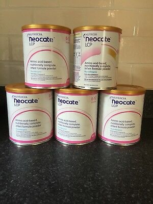 5 X Tins Of Nutricia Neocate LCP 0-12 Months