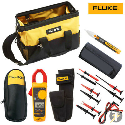 Fluke 325 Clamp Meter KIT5U SureGrip Test clips and Lead Set plus case and more