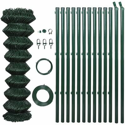 Chain Fence 1.25 x 15 M With Posts & All Hardware - Green