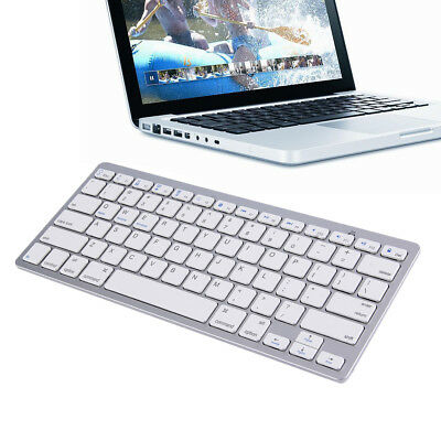 Ultra Slim Wireless Bluetooth 78 keys Keyboard For Android MAC Windows OS White