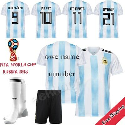 2018 Light Blue Football National Team Jersey Kit Kids Soccer Suit For Boy Youth