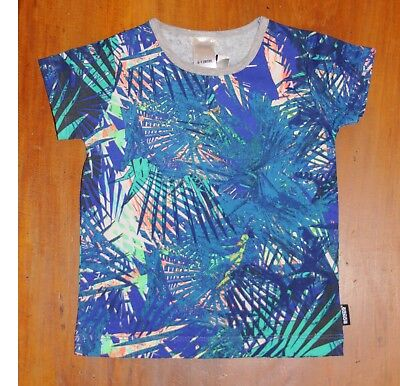 Bonds T-shirt Size 0 Graphicca Palm 6 to 12 months Blue Fluro NEW