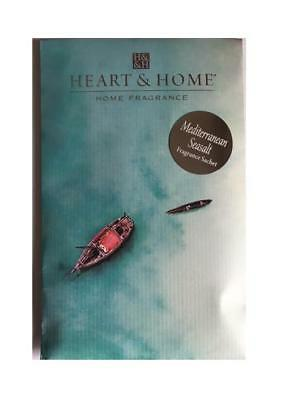 Heart and Home Mediterranean Sea sal Large Scented Fragrance Sachet with Hanger