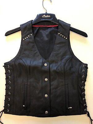 Indian Motorcycle Leather Womens Vest Size Small