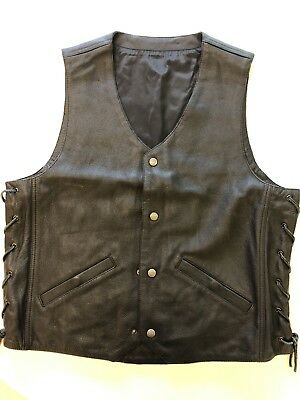 Indian Motorcycle Leather Vest Size Medium