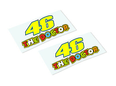 ROSSI THE DOCTOR 46 Classic Retro Car Motorcycle Decals Stickers