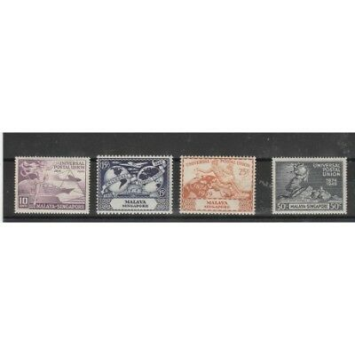 Singapore  1949  Upu  4 Val Mnh  Mf54062