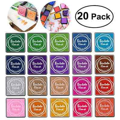 20PCS Ink Pad Scrapbooking Colorful Stamp Sealing Fingerprint Stencil Card AU