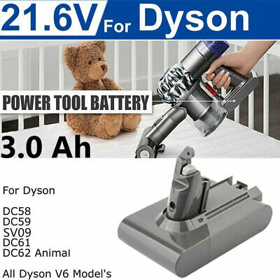 3Ah 21.6V Vacuum Battery for Dyson V6 DC58 DC59 DC61 DC62 HANDHELD CORDLESS